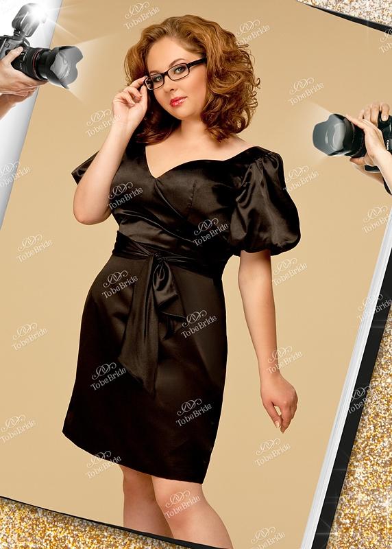 Стильное вечернее платье из атласа
