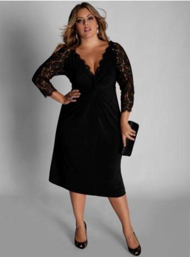 Фото красивое платья для полных