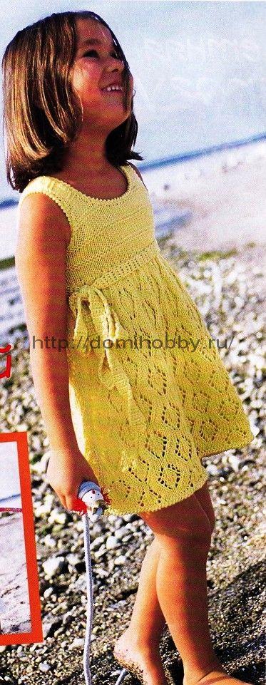 Вязание для девочек платья летние